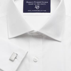 White Plain Poplin Men's Shirt Available in Four Fits