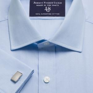 Sky End on End Poplin Men's Shirt Available in Four Fits
