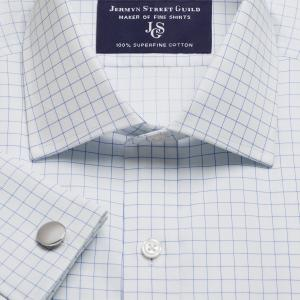 Sky Gloucester Check Twill Men's Shirt Available in Four Fits