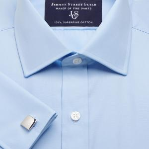 Sky Plain Poplin Men's Shirt Available in Four Fits
