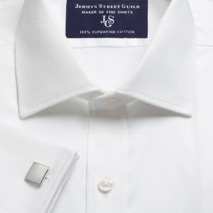 White Plain Sateen Men's Shirt Available in Four Fits