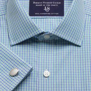 Green Trafalgar Check Poplin Men's Shirt Available in Four Fits