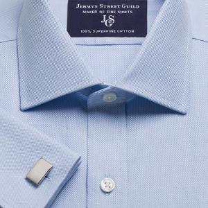 Sky Royal Oxford Men's Shirt Available in Four Fits