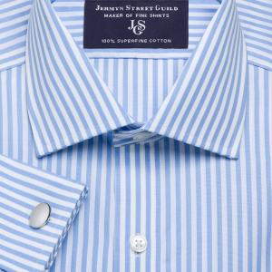 Sky Bengal Stripe Poplin Men's Shirt Available in Four Fits