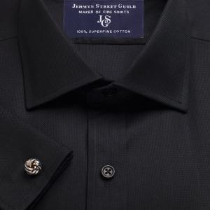 Black Royal Oxford Men's Shirt Available in Four Fits