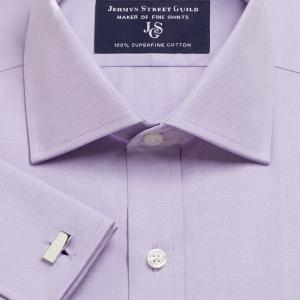Lilac Plain Pinpoint Oxford Men's Shirt Available in Four Fits