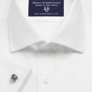 White Royal Twill Men's Shirt Available in Four Fits