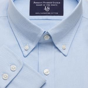 Blue Hyde Park Oxford Men's Shirt Available in Four Fits