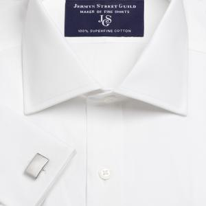 White Plain Pinpoint Oxford Men's Shirt Available in Four Fits