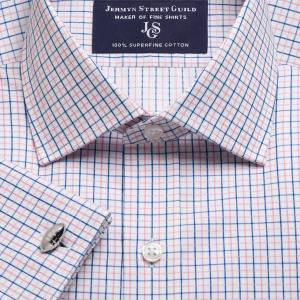 Pink Marylebone Check Twill Men's Shirt Available in Four Fits