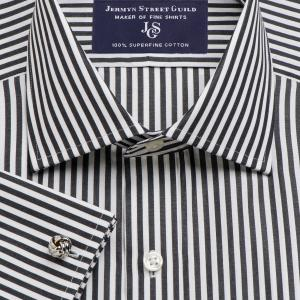 Black Bengal Stripe Poplin Men's Shirt Available in Four Fits