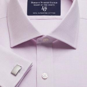 Pink Birdseye Dobby Men's Shirt Available in Four Fits