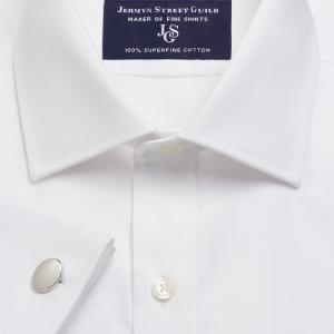White Fine Twill Men's Shirt Available in Four Fits