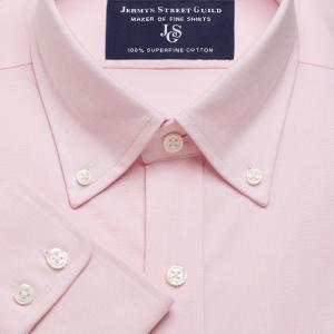 Pink Hyde Park Oxford Men's Shirt Available in Four Fits