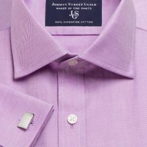 Purple Royal Twill Men's Shirt Available in Four Fits