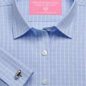 Sky Westminster Check Poplin Women's Shirt Available in Six Styles
