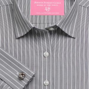 Charcoal Westminster Stripe Poplin Women's Shirt Available in Six Styles