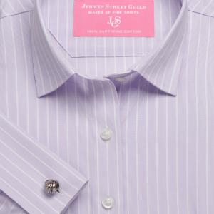 Lilac Westminster Stripe Poplin Women's Shirt Available in Six Styles