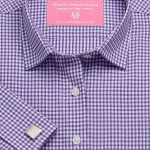 Purple Chelsea Check Twill Women's Shirt Available in Six Styles
