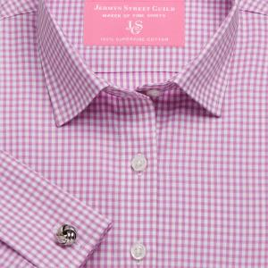 Pink Chelsea Check Twill Women's Shirt Available in Six Styles