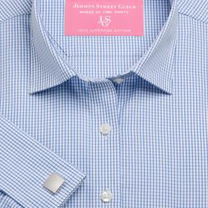 Sky Edinburgh Check Poplin Women's Shirt Available in Six Styles