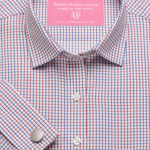 Red Marylebone Check Twill Women's Shirt Available in Six Styles