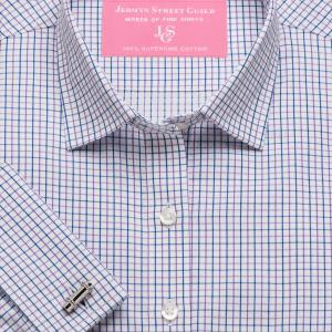 Purple Marylebone Check Twill Women's Shirt Available in Six Styles