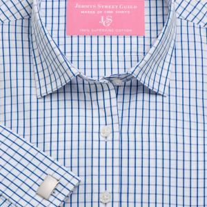 Blue Piccadilly Check Poplin Women's Shirt Available in Six Styles