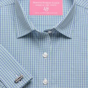 Green Trafalgar Check Poplin Women's Shirt Available in Six Styles