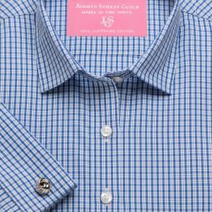 Blue Kensington Check Poplin Women's Shirt Available in Six Styles