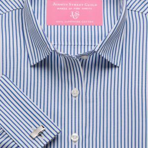 Blue Knightsbridge Stripe Poplin Women's Shirt Available in Six Styles