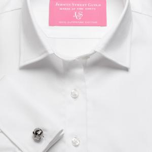White Fine Twill Women's Shirt Available in Six Styles