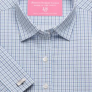 Blue Marylebone Check Twill Women's Shirt Available in Six Styles