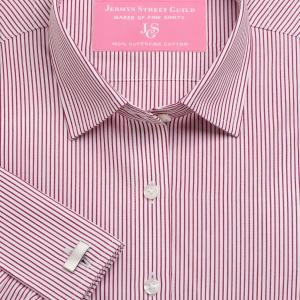 Red Edinburgh Stripe Poplin Women's Shirt Available in Six Styles