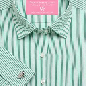 Green Edinburgh Stripe Poplin Women's Shirt Available in Six Styles