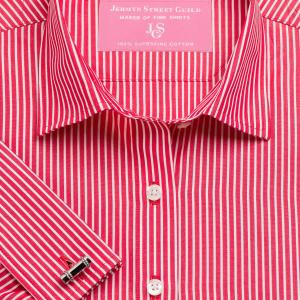 Red Mayfair Stripe Poplin Women's Shirt Available in Six Styles