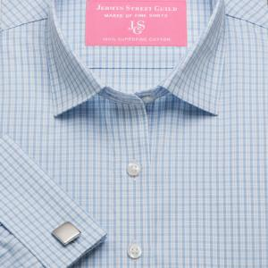 Sky Kensington Check Poplin Women's Shirt Available in Six Styles