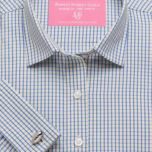 Yellow Trafalgar Check Poplin Women's Shirt Available in Six Styles