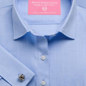 Sky Large Prince of Wales Check Poplin Women's Shirt Available in Six Styles