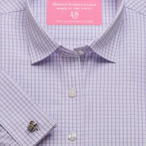 Lilac Kensington Check Poplin Women's Shirt Available in Six Styles
