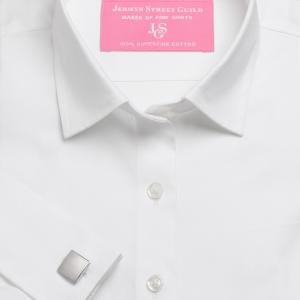 White Plain Pinpoint Oxford Women's Shirt Available in Six Styles