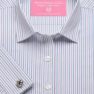 Purple Marylebone Stripe Twill Women's Shirt Available in Six Styles