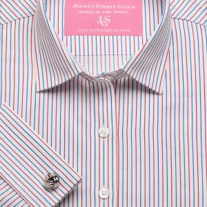 Red Marylebone Stripe Twill Women's Shirt Available in Six Styles