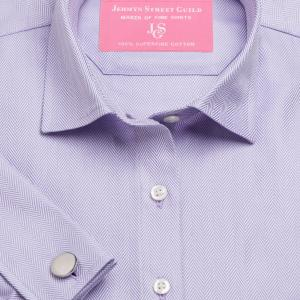 Lilac Royal Herringbone Women's Shirt Available in Six Styles