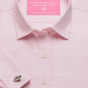 Pink Prince of Wales Check Twill Women's Shirt Available in Six Styles
