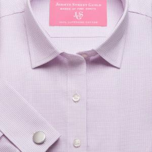 Pink Birdseye Dobby Women's Shirt Available in Six Styles