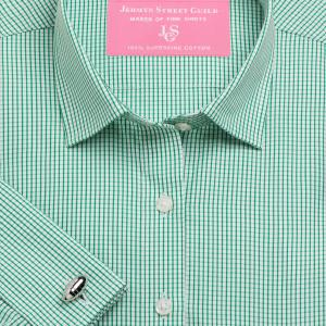 Green Edinburgh Check Poplin Women's Shirt Available in Six Styles