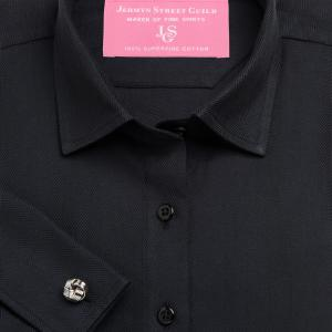 Black Royal Herringbone Women's Shirt Available in Six Styles