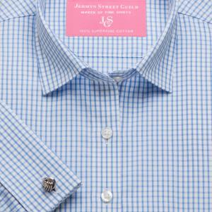 Sky Knightsbridge Check Poplin Women's Shirt Available in Six Styles