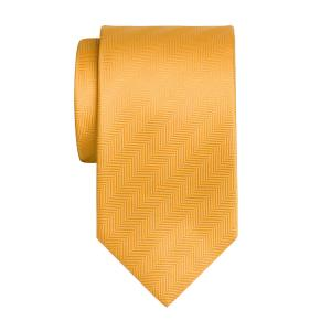 Gold Plain Herringbone Tie
